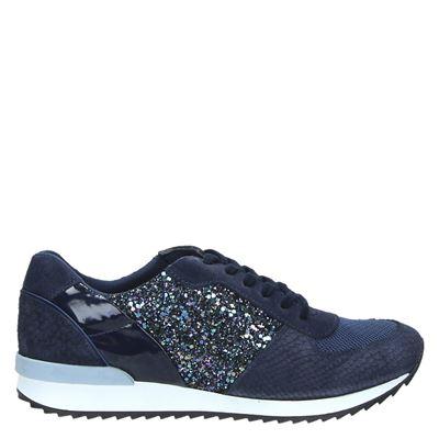 Poelman  dames sneakers blauw