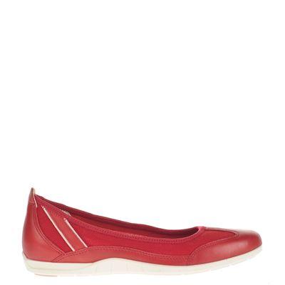 Ecco dames ballerinas rood