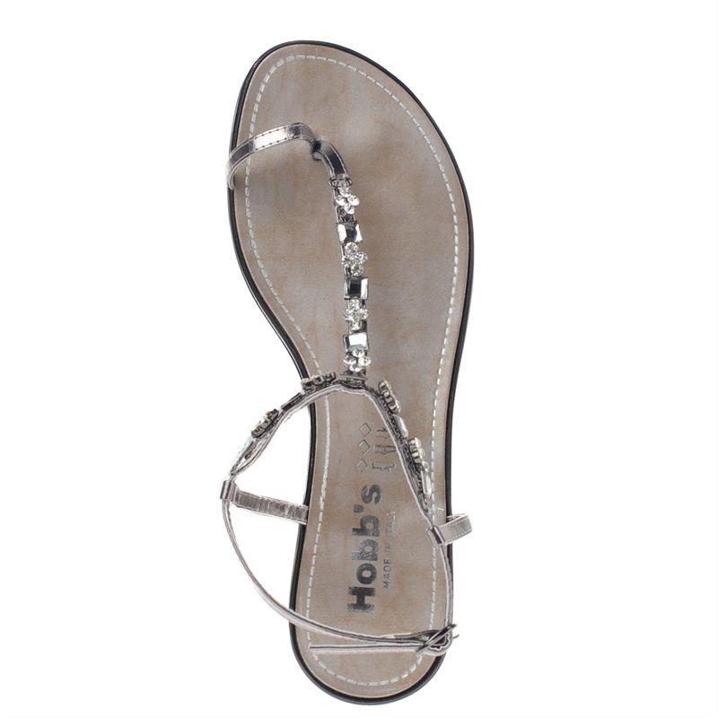 Hobb's dames sandalen zilver, 261.460.10-92-6
