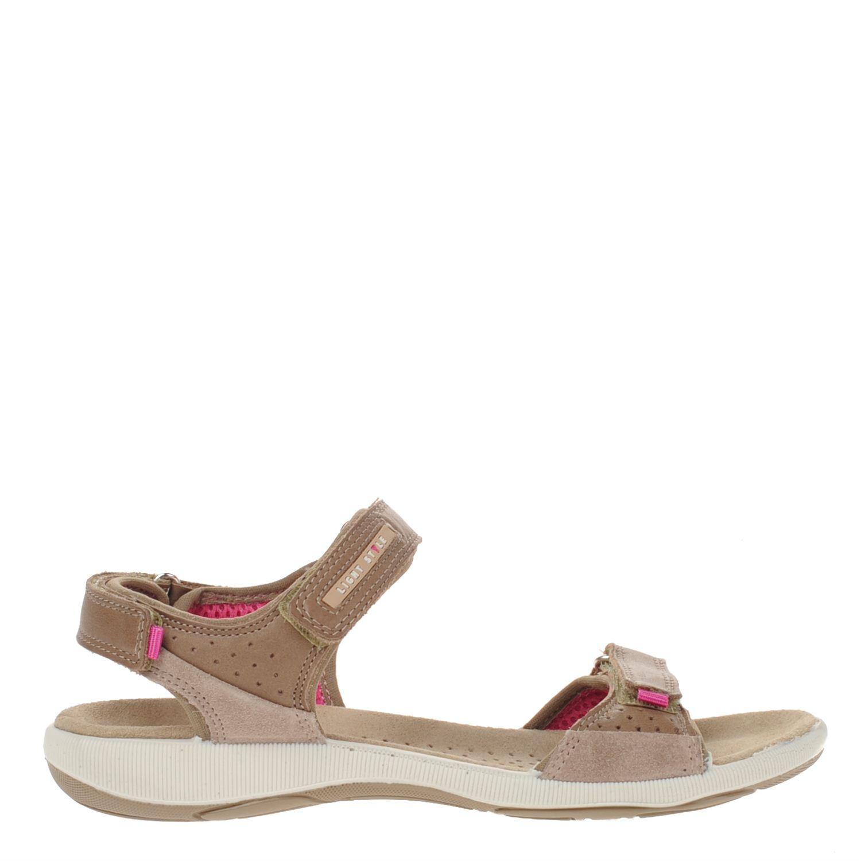 Dames sandaal van de comfortline van nelson uitgevoerd in leer. de sandaal heeft twee verstelbare banden voor ...