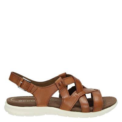 Ecco dames sandalen cognac