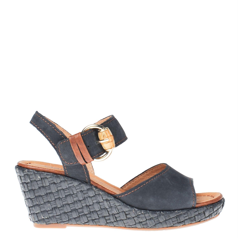 gabor dames sandalen blauw. Black Bedroom Furniture Sets. Home Design Ideas