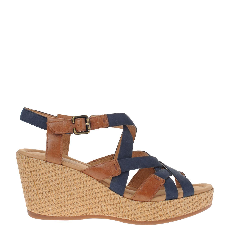 gabor dames sandalen blauw nelson schoenen. Black Bedroom Furniture Sets. Home Design Ideas