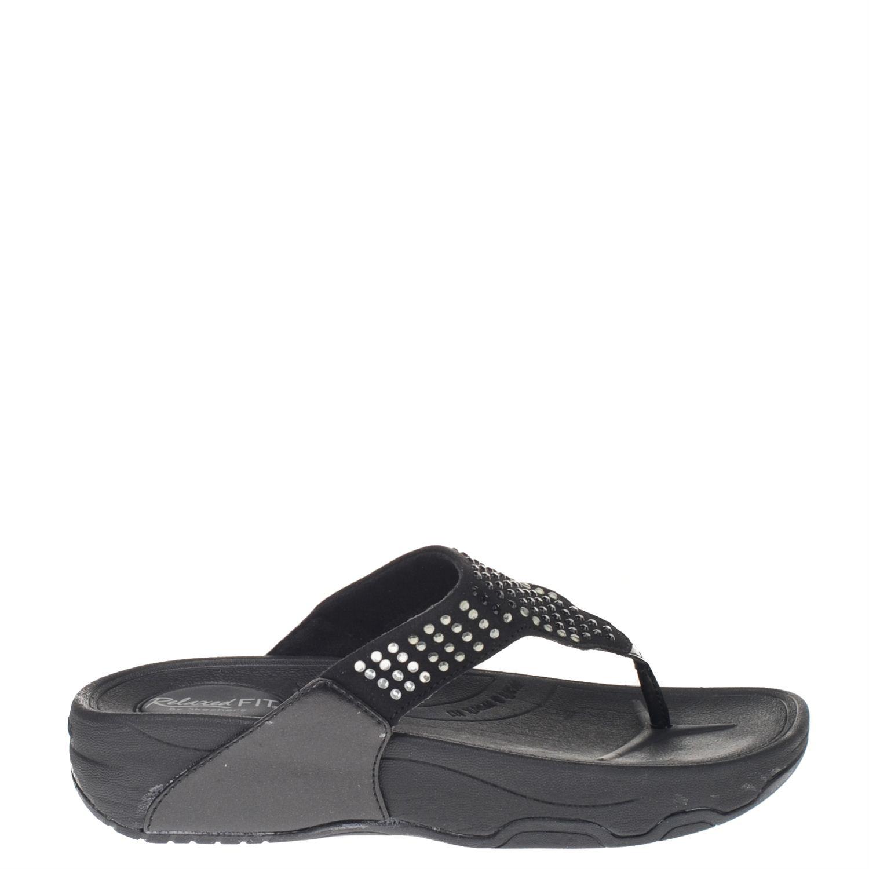 Skechers Dames Slippers Zwart Nelson Schoenen