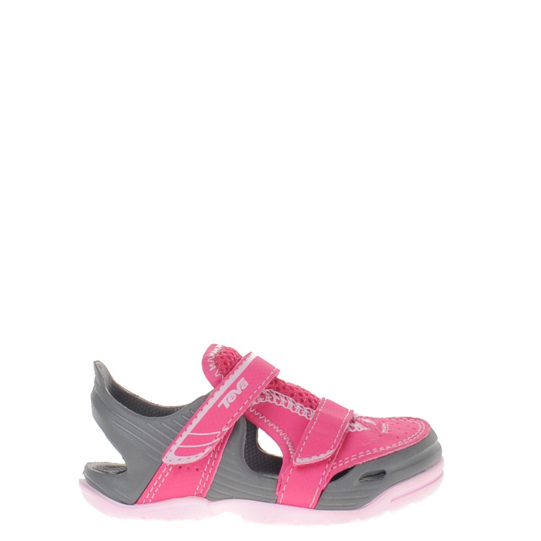 Meisjes sandaal barracuda van het merk teva uitgevoerd in rubber. de sandaal heeft twee verstelbare bandjes ...
