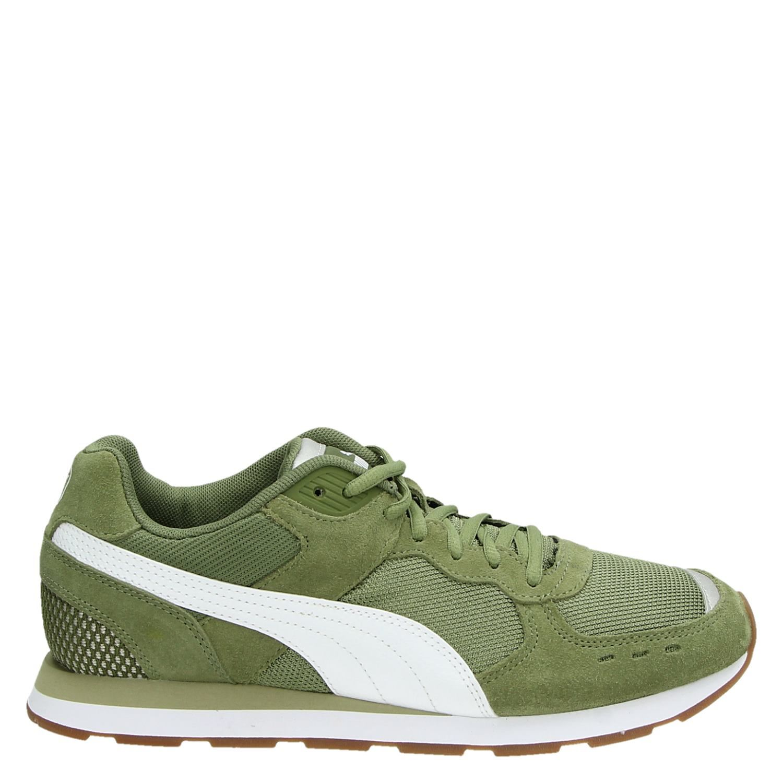 Puma Soft Foam lage sneakers groen Vindjeschoen.nl