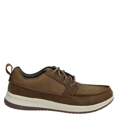 Skechers heren veterschoenen cognac