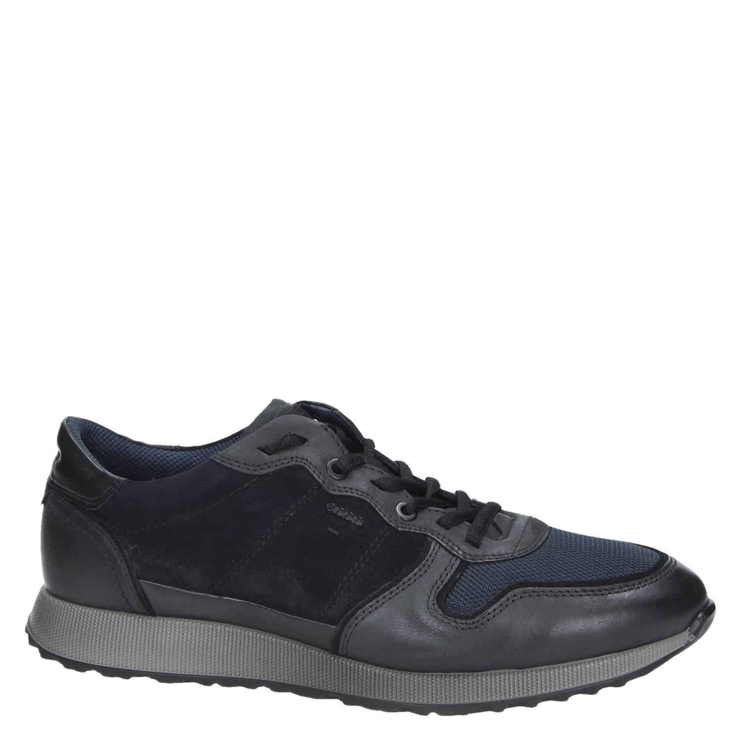 Ecco Sneak Mens heren lage sneakers blauw