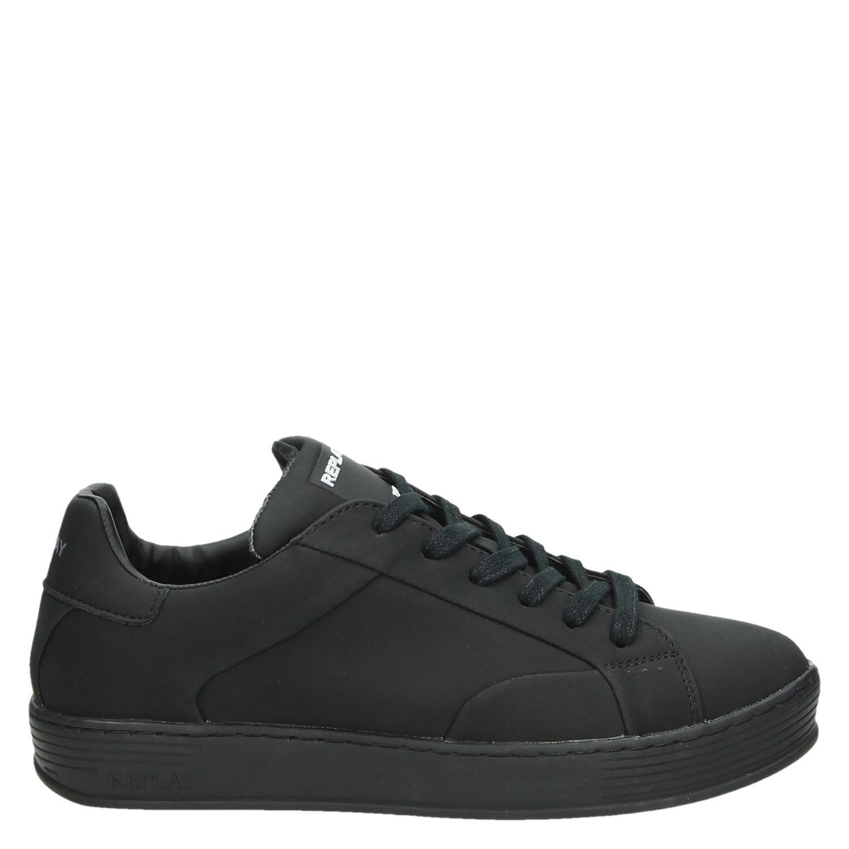 Replay heren lage sneakers zwart