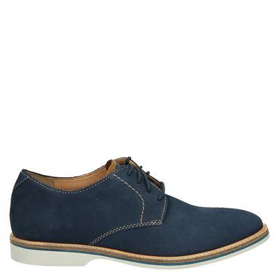 Clarks heren nette schoenen blauw