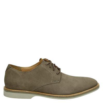 Clarks heren nette schoenen taupe