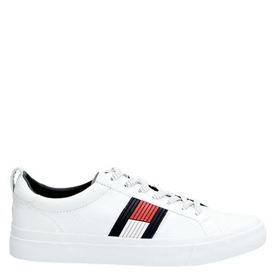 Tommy Hilfiger Sport heren lage sneakers wit