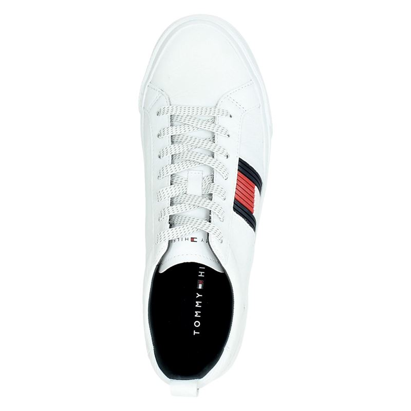 Tommy Hilfiger Sport Flag Detail - Lage sneakers - Wit