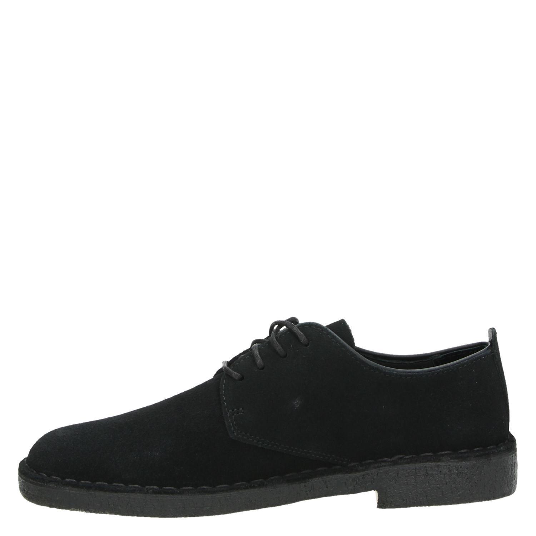 0db5401f8b4 Clarks Originals Desert London heren lage nette schoenen zwart