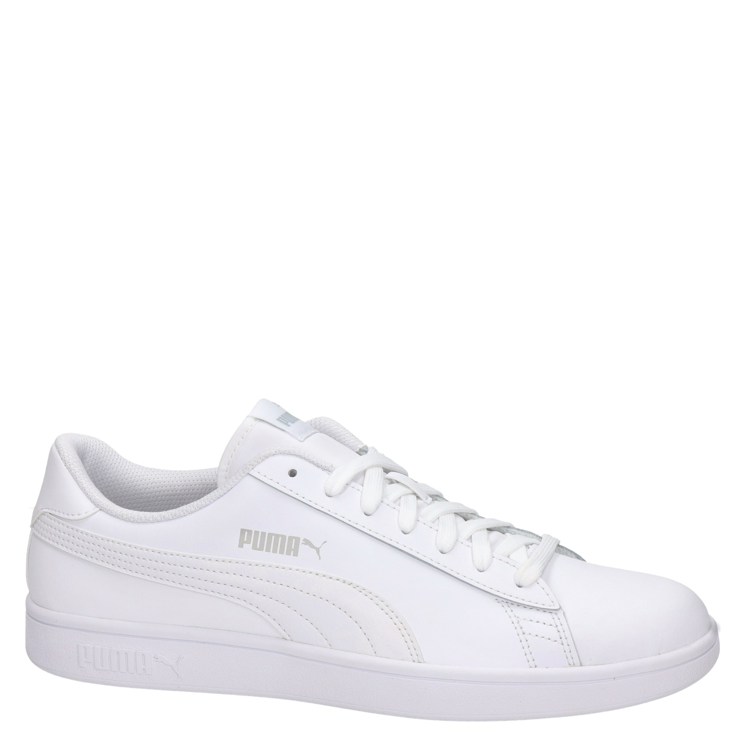 Puma Smash V2 heren lage sneakers wit