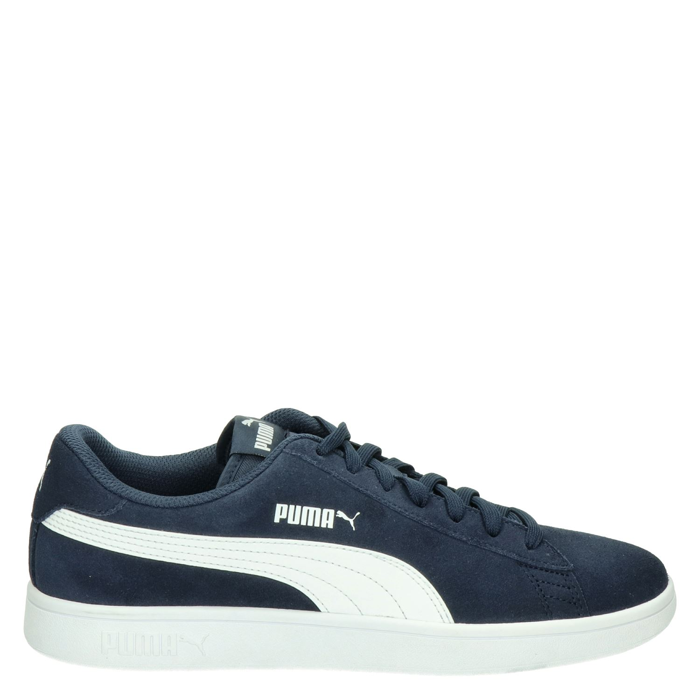 Puma Smash V2 heren lage sneakers blauw