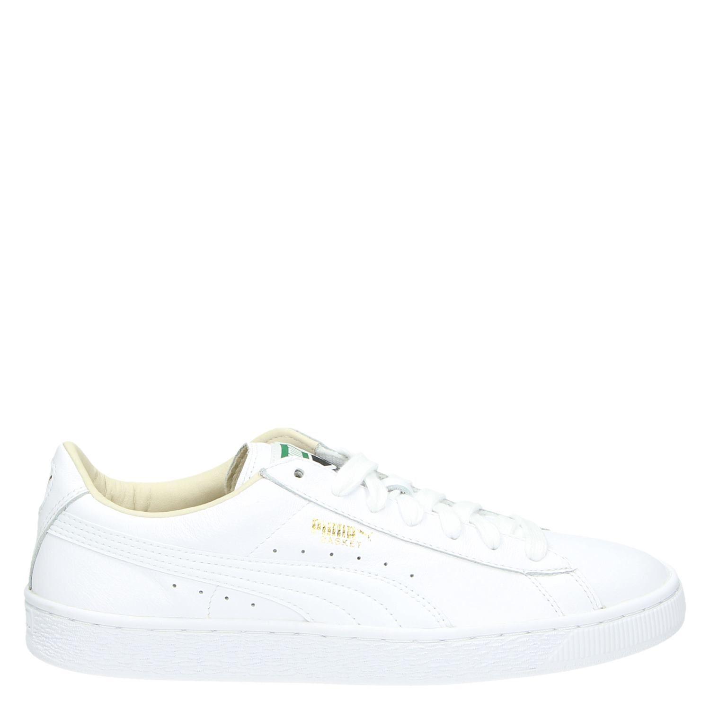 3b95fc3afb1 Puma Basket Classic LFS heren lage sneakers wit