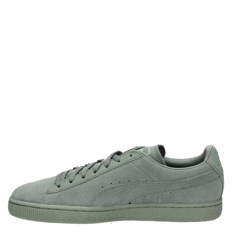 Daim Chaussures Puma Lage Tons Classiques Groen hUpoE6dct