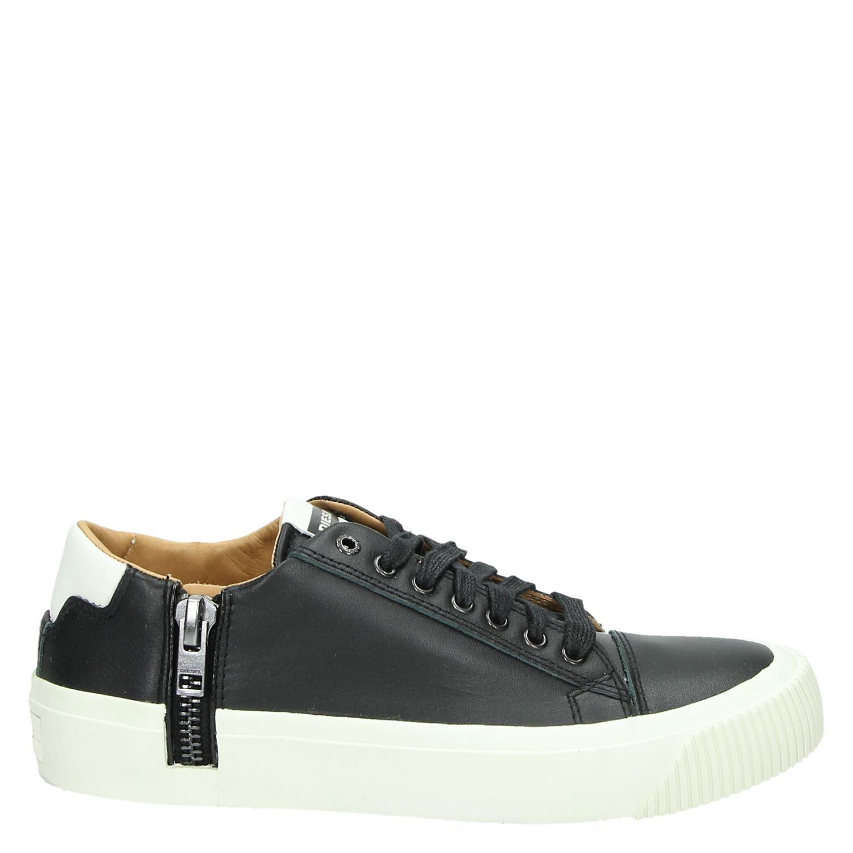 23452e73c09 Diesel Zip Turf Voyage heren lage sneakers zwart