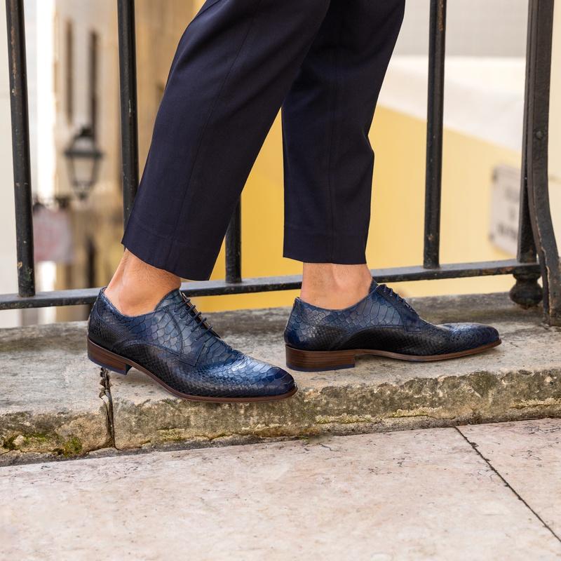 Lorenzi - Lage nette schoenen - Blauw