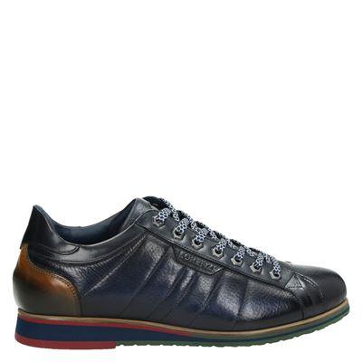 Lorenzi heren nette schoenen blauw