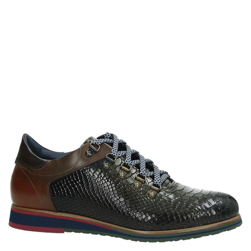 Lorenzi - Lage nette schoenen - Groen