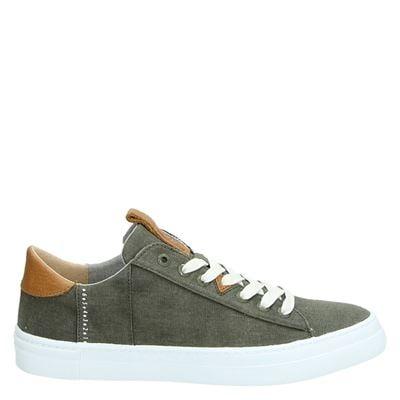 Hub heren sneakers kaki
