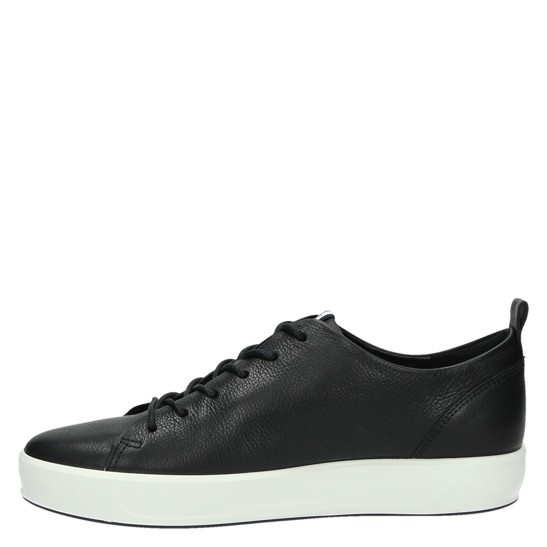 Zwart Heren Ecco Soft Lage 8 Sneakers 9WH2IED