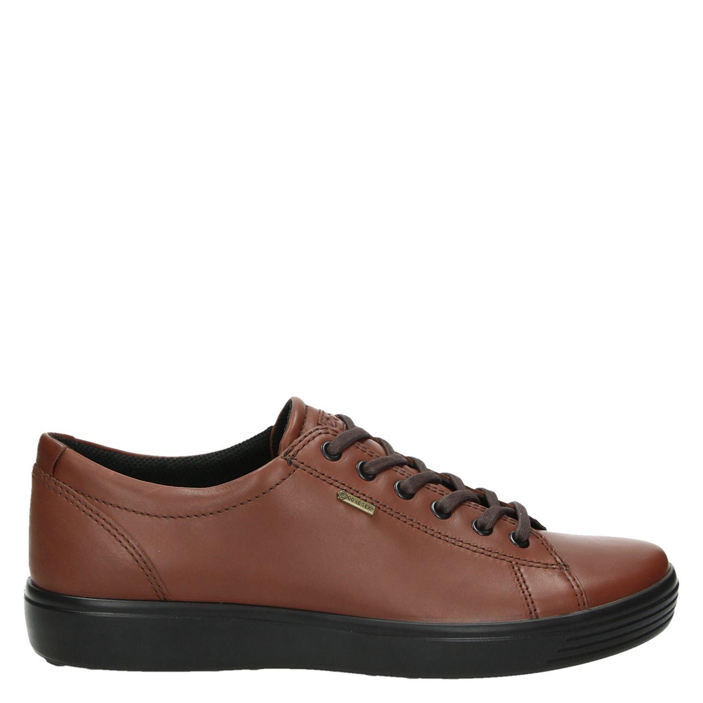 Ecco Soft 7 heren lage sneakers bruin