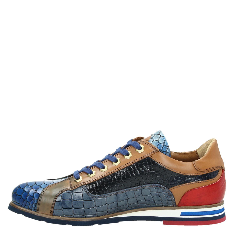 Lorenzi - Lage sneakers voor heren - Blauw 0sINIyD