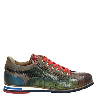Lorenzi heren sneakers cognac