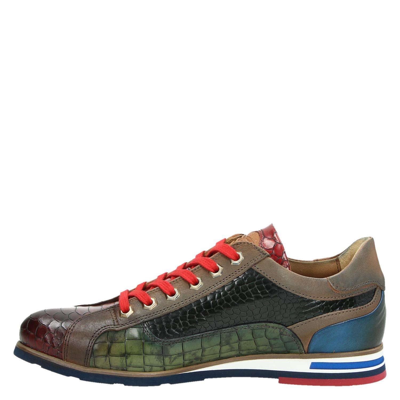 Lorenzi - Lage sneakers voor heren - Cognac WAzbkqf