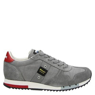 Blauer heren sneakers grijs