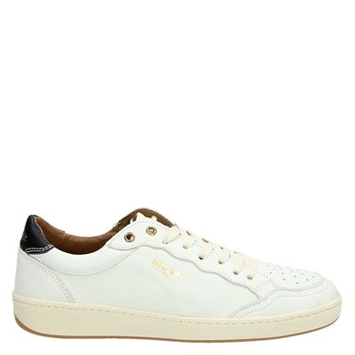 Blauer heren sneakers wit