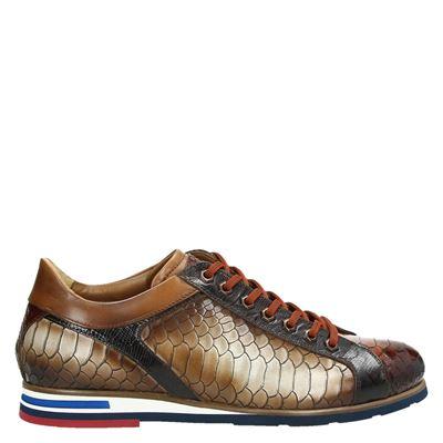 Lorenzi heren sneakers bruin