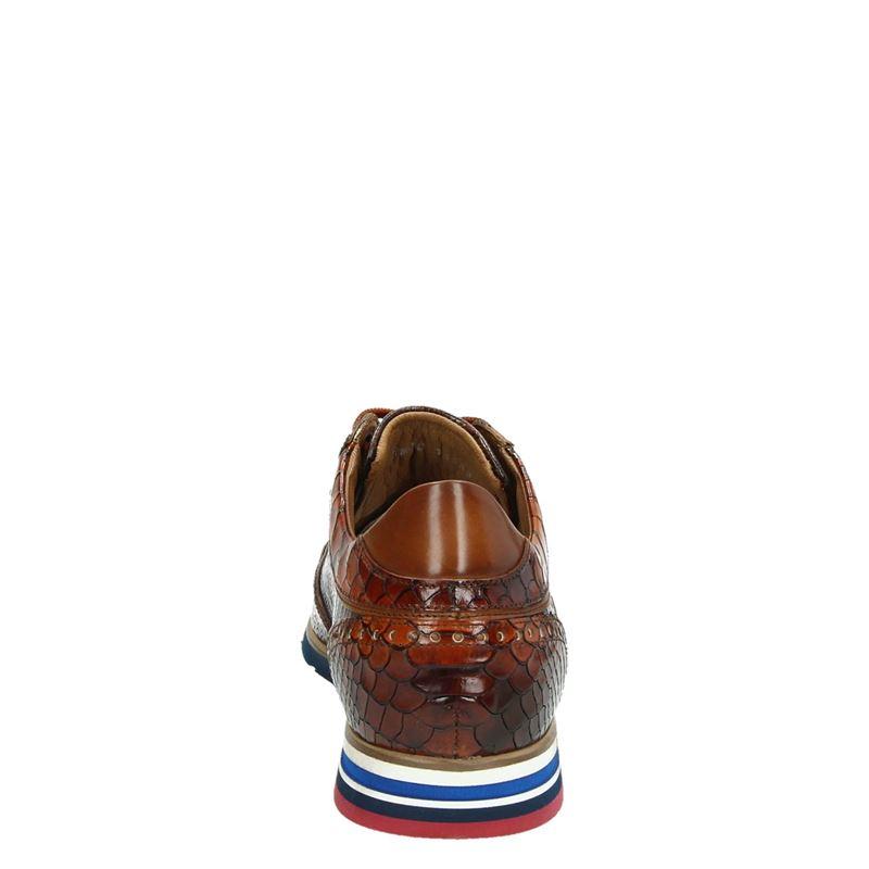 Lorenzi - Lage nette schoenen - Cognac