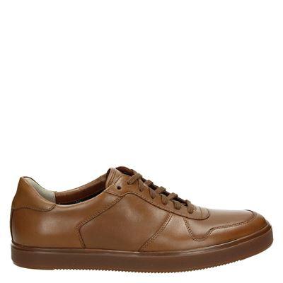 Clarks heren sneakers cognac