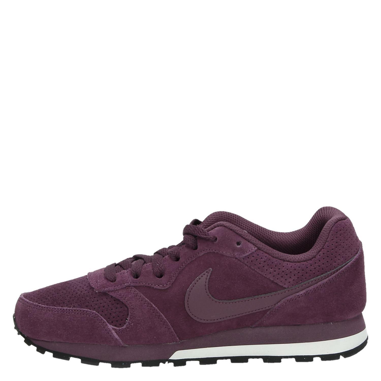 0734702a356 Nike MD Runner 2 Lea heren lage sneakers rood