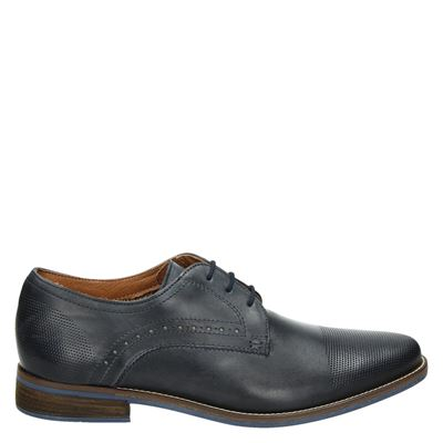 Nelson heren nette schoenen blauw