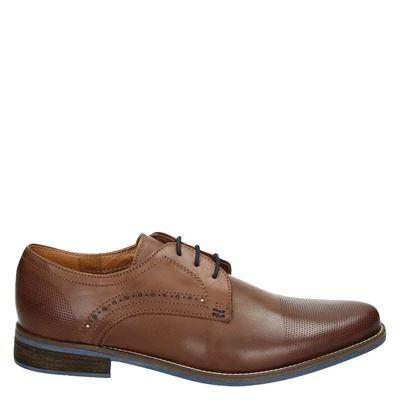 Nelson heren nette schoenen bruin