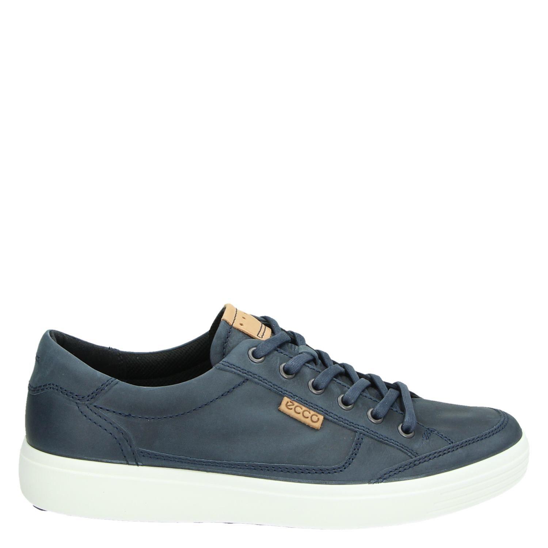 Lage Soft Heren Sneakers Blauw 7 Ecco PTqYw