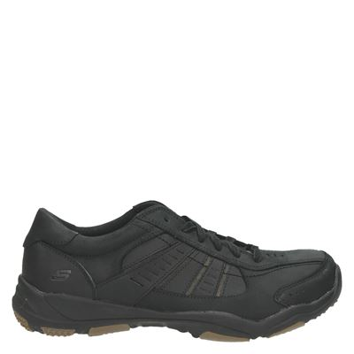 Skechers heren veterschoenen zwart