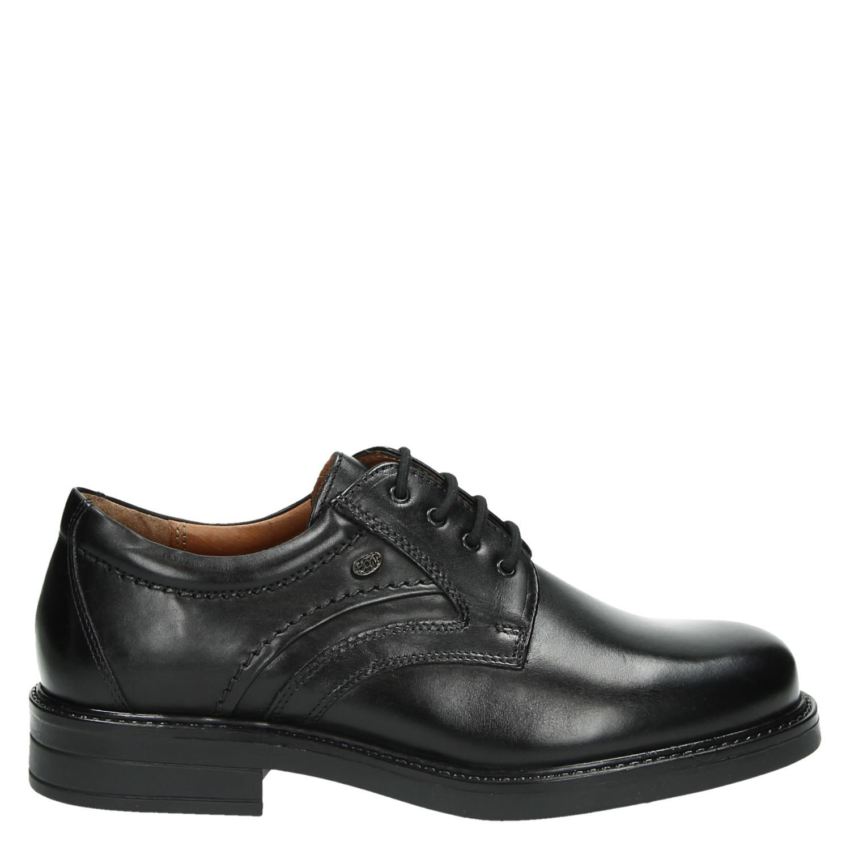 98217804e19 Hush Puppies heren lage nette schoenen zwart