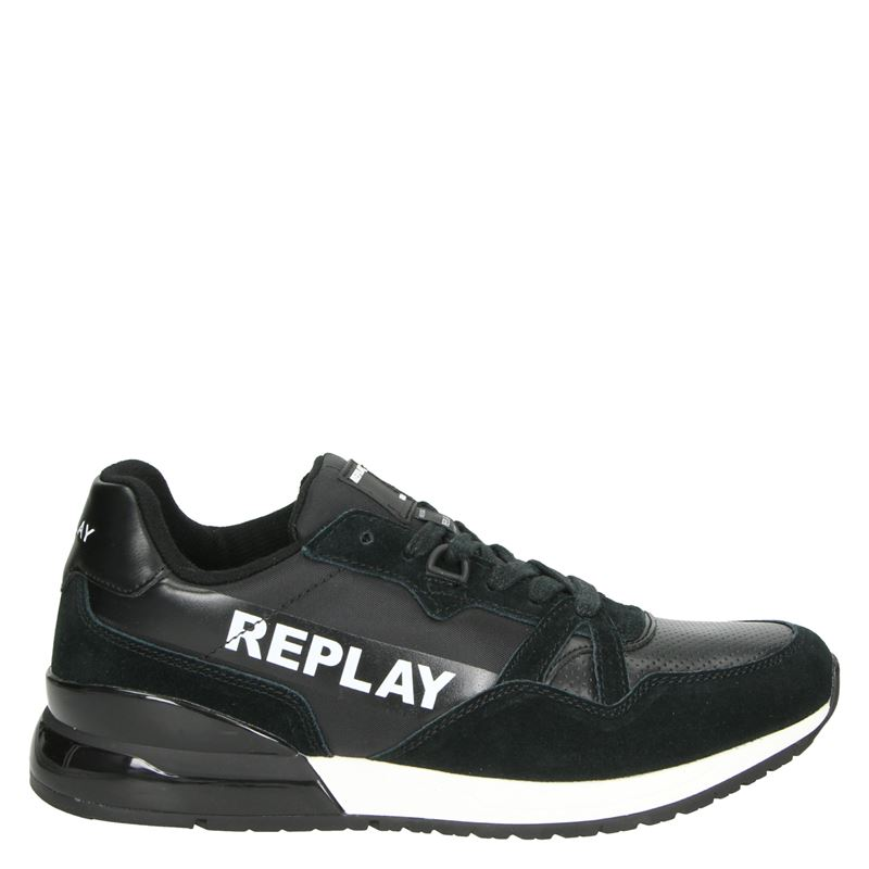 Replay Lavan - Lage sneakers - Zwart