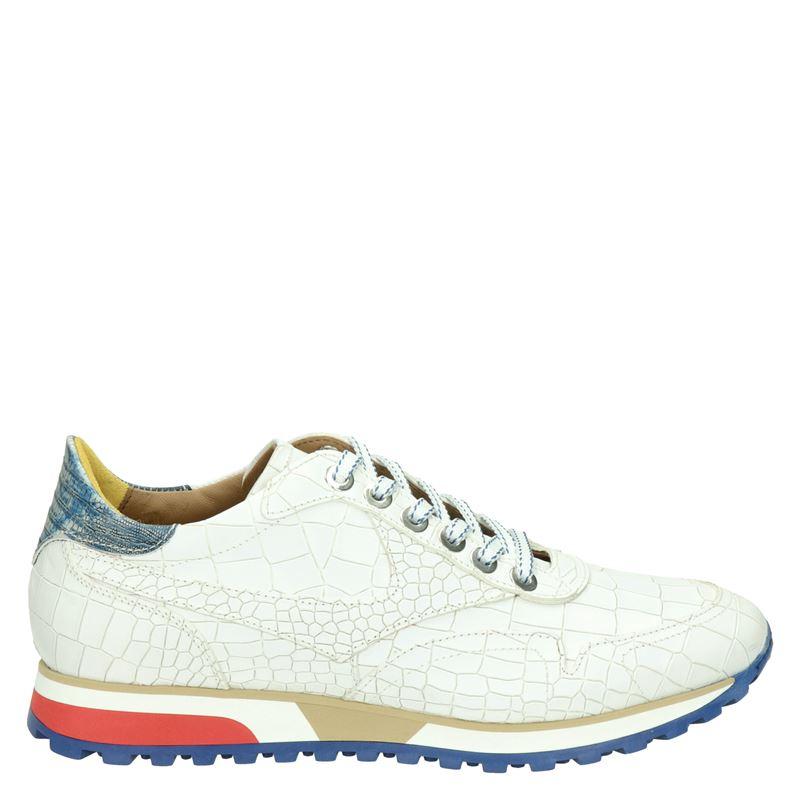 Lorenzi leren sneakers crocoprint wit online kopen