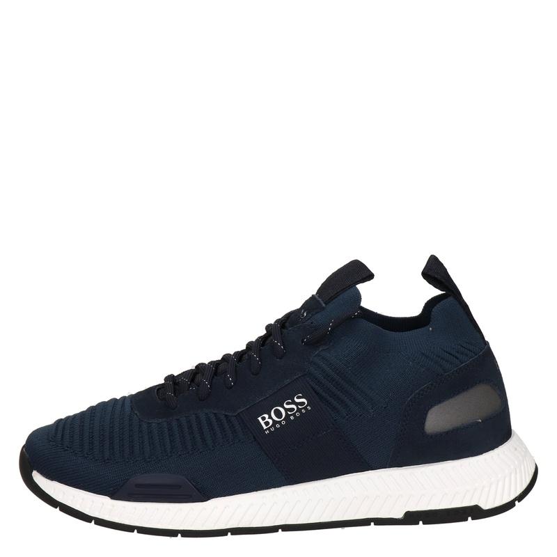 Hugo Boss Titanium Runn - Lage sneakers - Blauw