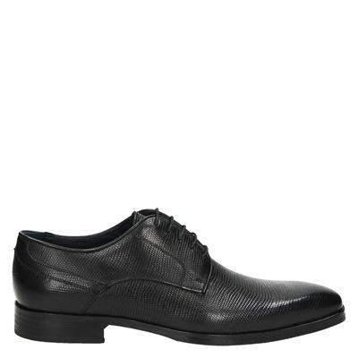 Nelson heren nette schoenen zwart