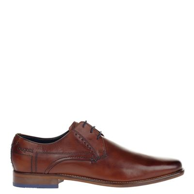 Bugatti heren lage nette schoenen cognac