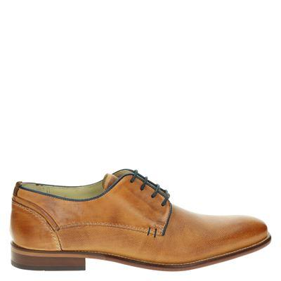 Nelson heren nette schoenen cognac