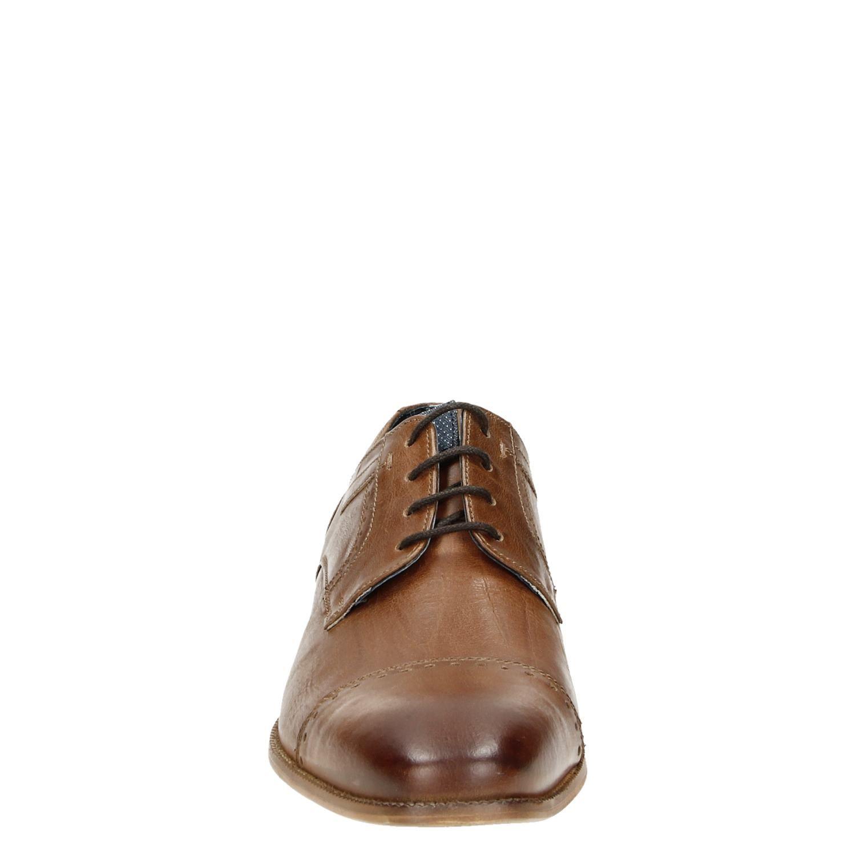 2594c2cf167 Piure heren lage nette schoenen cognac
